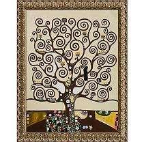 Hand painted Oil Reproduction of Gustav Klimts Tree of Life