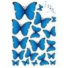 Wall Art Corner Blue Butterflies Vinyl Home Wall Art Sticker Decals