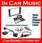 Ford Focus Double Din Facia Stalk Adaptor Alpine Car Stereo Fitting