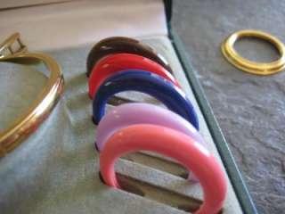 GUCCI Gold plated bangle watch 11/12 (regular) w/13 bezels incl gold w