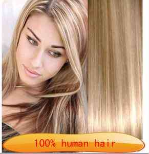 highlight 18 613# human hair clip in extensions