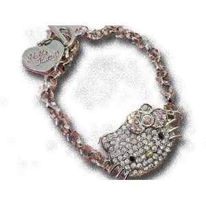 Kitty Toggle Crystal & Rhinestone Bracelet By Jersey Bling Jewelry