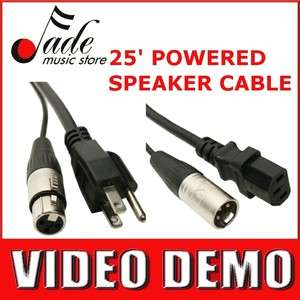 Elite Core 25 Powered Speaker Snake Cable   Neutrik XLR and 3 prong