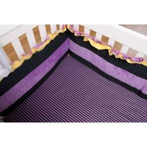 Sassy Shaylee Crib Sheet Purple Baby