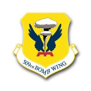US Air Force 509th Bomb Wing Decal Sticker 3.8 6 Pack