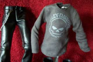 Barbie KEN Doll Clothes Outfit Fashion Harley Davidson BOOTS HELMET