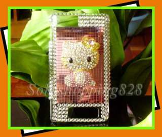 Pink Hello Kitty 3D Bling Hard Snap on Case Cover For Motorola Droid