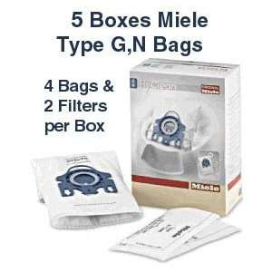 Miele Dust Bag 5 Pack Type GN 20 Bags and 10 Filters Home