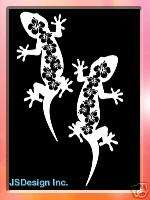 Hibiscus Gecko Decal   Hawaii   Car Window Decal