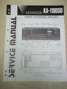 Kenwood Service Manual~KA 1100SD Integrated Amplifier~Original