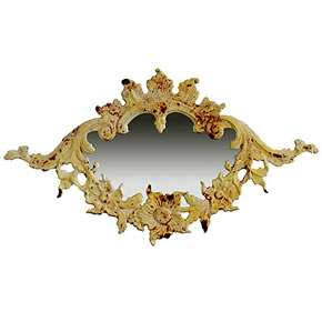 Cast Iron Antiqued Wall Decor Vintage Look Mirror 32181