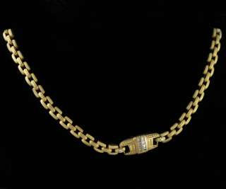 New Couture Judith Ripka 18k Gold Diamond Necklace