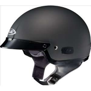Matte Black Open Face Motorcycle Helmet IS2 Size Large Automotive