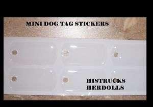50 pc MINI MILITARY DOG TAGS EPOXY STICKERS