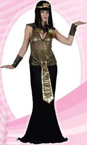 COSTUME Queen of the Nile Egyptian Cleopatra Black Gold