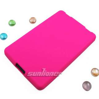 Hot Pink Silicone Case Skin Cover for  Kindle Fire 7 Tablet