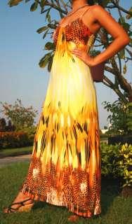 NEW Ladies Boho Woman Floral Sexy Long Maxi Dress