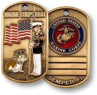 US MARINE CORPS BRAT DOG TAG MILITARY BRAT DOG TAG NEW