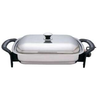 16 Rectangular Surgical Stainless Steel Electric Skillet at
