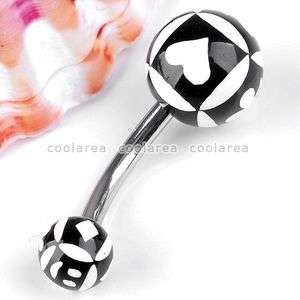 Flower UV Stainless Steel Ball Belly Navel Ring Body Piercing Gift