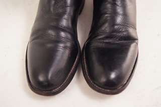 Justin Black Leather 8 AA Womens Western Boots