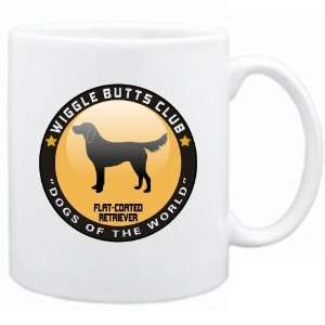 New  Flat Coated Retriever   Wiggle Butts Club  Mug Dog