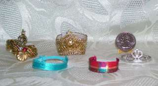 GENUINE MATTEL BARBIE DOLL SIZE ACCESSORY LOT CE HEADBANDS HEADPIECES