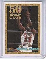 93 94 Topps 50 Point Club Michael Jordan CHICAGO BULLS