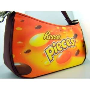 Childrens Girls Hersheys Reeses Pieces Logo Candy Purse Bag Carry On