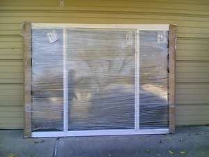 NEW Huge House Vinyl PICTURE WINDOW w/ Side Sliders (Heavy Duty Glass