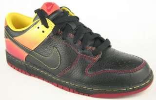 NIKE NYX DUNK LOW Mens Black Orange Red Shoes Size 11.5