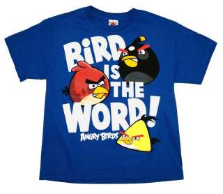 Angry Birds Bird Is The Word Rovio Mobile Video Game Youth T Shirt Tee