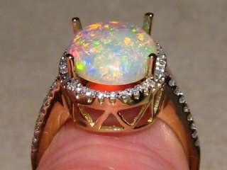 TOP GEM OPAL & DIAMOND RING 14k Gold  Layaway Available