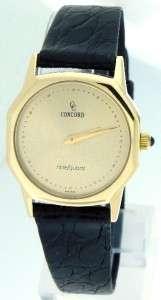 Authentic Ladies Concord Nine Quartz 18K Gold Watch