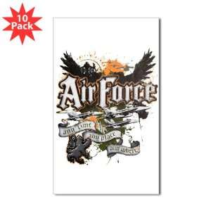 Sticker (Rectangle) (10 Pack) Air Force US Grunge Any Time