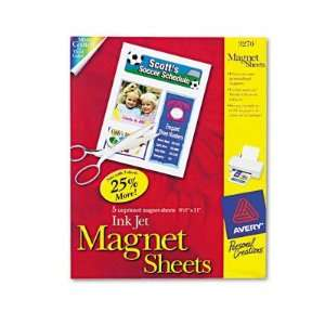 Avery Personal Creations Inkjet Magnet Sheets AVE3270