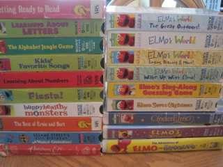 Huge Lot 17 Vhs Videos Sesame Street Elmos World Big Bird