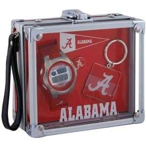 Alabama Crimson Tide Mens Rock Box Watch/Accessory Set