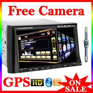 OEM 2 Din 7In Dash HD Car Stereo DVD  Radio Player Ipod BT GPS NAVI