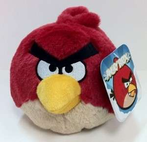 RED ANGRY BIRDS PLUSH DOLL with Sound licensed by ROVIO FREE