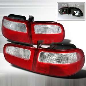 Honda Civic 3Dr Red Clear Tail Lights /Lamps Euro Performance