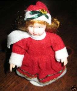 Belinda Agnes Christmas Porcelain Doll Collectible
