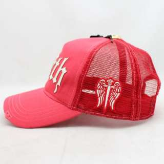 New Faith Connexion Faith Off Red Trucker Caps Hats