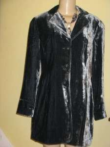 NWT$99 COLDWATER CREEK LONG VELVET DUSTER JACKET W18,1X