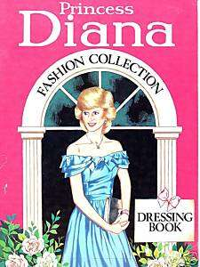 Princess Diana FASHION COLLECTION PINK PAPER DOLL BOOK