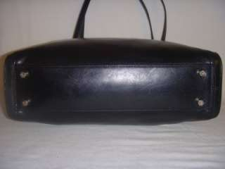 MONSAC LARGE BLACK LEATHER PURSE/HANDBAG   VERY NICE