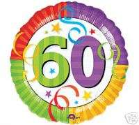 Happy 60th Birthday 18 balloons Gift Party Decorations