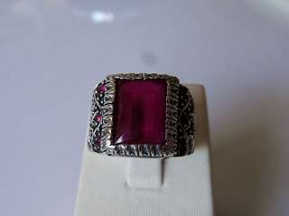 925 STERLING SILVER MENS RUBY RING NEW