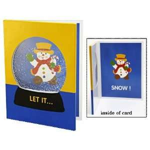 Snowman Snow Globe Greeting Card