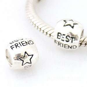 Best friend charm for European charm bracelets Arts, Crafts & Sewing